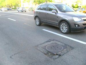 Capcană în asfalt pe Calea Craiovei