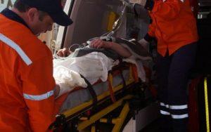 Puştanul, preluat de ambulanţă