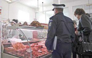 Poliţia, în control la un raion de carne