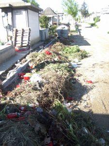 Un soclu degradat şi un munte de gunoi