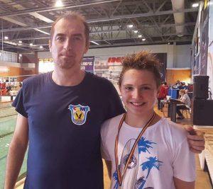 David Cârciumărescu, alături de antrenorul Bogdan Chiriac