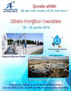 Apă Canal 2000 SA Piteşti se implică în programul