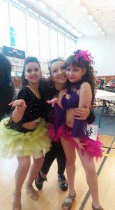 Bianca, Ruxandra şi coregrafa, bucuroase de rezultate
