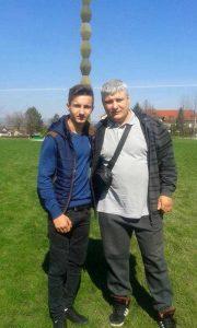 Ioniţă Mărăşescu, alături de unul dintre elevii săi
