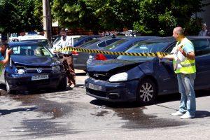 Măsurători la locul accidentului