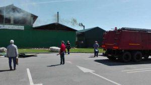 Pompieri şi martori la locul incidentului