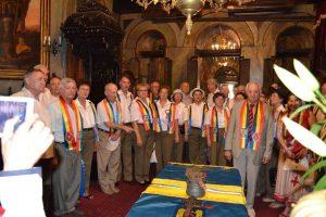 La slujba de sfinţire a Drapelului Asociaţiei