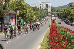 Parada bicicliştilor la Piteşti