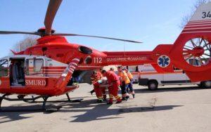 Trimis cu elicopterul la Bucureşti