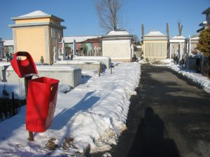 Au fost curăţate de zăpadă aleile cimitirului