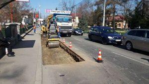 Strada Armand Călinescu a cedat