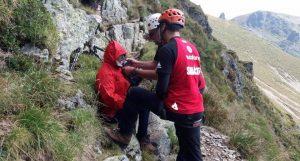 Turistă salvată cu elicopterul de pe munte