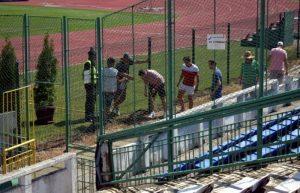 Jandarmeria aplică legea pe stadioane, indiferent de temperaturi