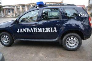Jandarmi ajunşi cu maşina în râu
