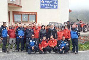 Salvamontiştii şi jandarmii s-au antrenat la Capra