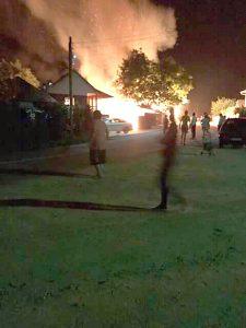 Hală incendiată intenţionat la Coşeşti