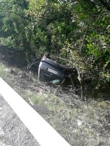 Un bihorean s-a răsturnat cu maşina
