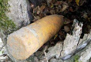 Proiectil descoperit la Mălureni