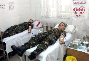 Vânătorii de munte au donat sânge