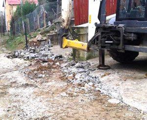Lucrări pentru stoparea alunecărilor de teren