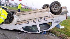 Şoferul care a rănit doi poliţişti, capturat