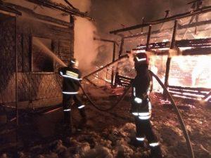 Incendiu violent la Purcăreni