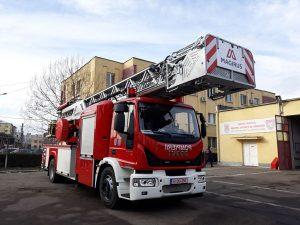 Cum arată noua autoscară a pompierilor