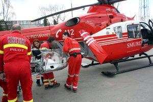 Bebeluş transportat cu elicopterul la Bucureşti