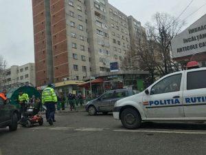 Invalid accidentat în centru