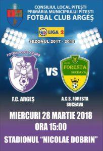 Surpriza prinde contur: FC Argeş-Foresta Suceava 0-2 la pauză
