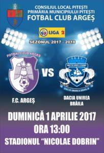 Argeşul se chinuie rău cu penultima clasată: FC Argeş-Dacia Unirea Brăila 0-0 la pauză