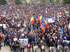 Mii de sindicalişti au protestat anul trecut