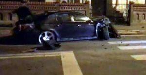 BMW-ul a suferit şi el avarii majore