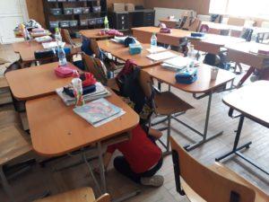 Simulare de cutremur la Şcoala
