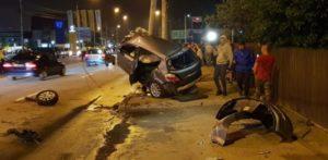 Imagini de la locul accidentuluiImagini de la locul accidentului