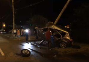 Imagine de la accidentul de aseară