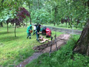 Lucrări în Parcul Lunca Argeşului