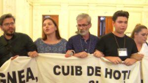 Un piteştean, în prima linie a protestului din Palatul Parlamentului
